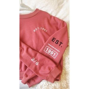 Topshop burnt pink cropped sweater